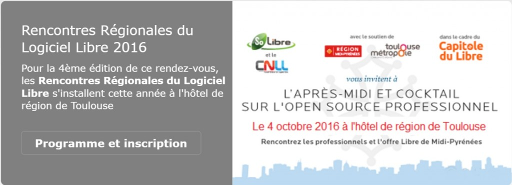 Regional Meeting of Free Software – Toulouse (France) – October 04, 2016