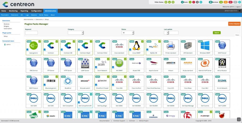 Nouvelles versions des produits Centreon compatibles Centreon 3.4