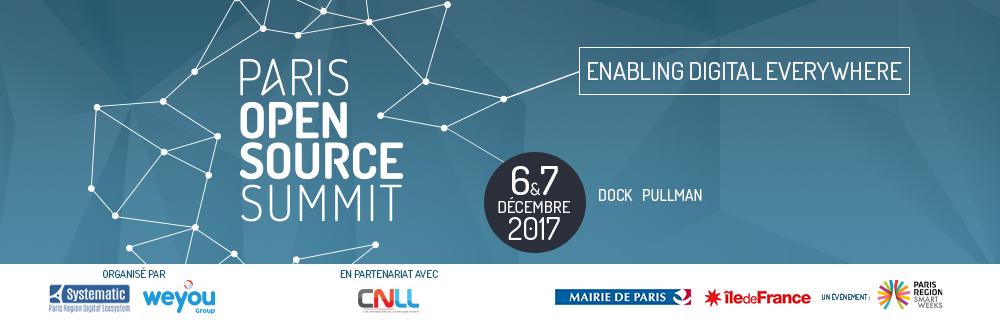 Save the date! – Paris Open Source Summit – 06 & 07 décembre 2017
