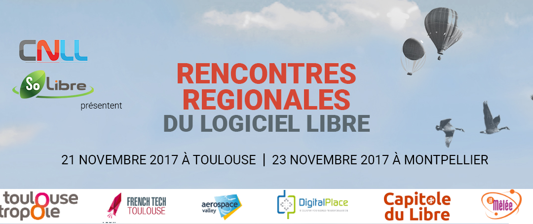 Save the date! – Rencontres Régionales du Logiciel Libre - 21 & 23 novembre 2017