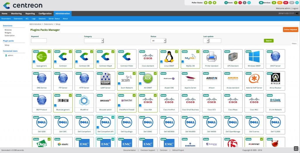 supervision, Plugin Packs, IT, Centreon