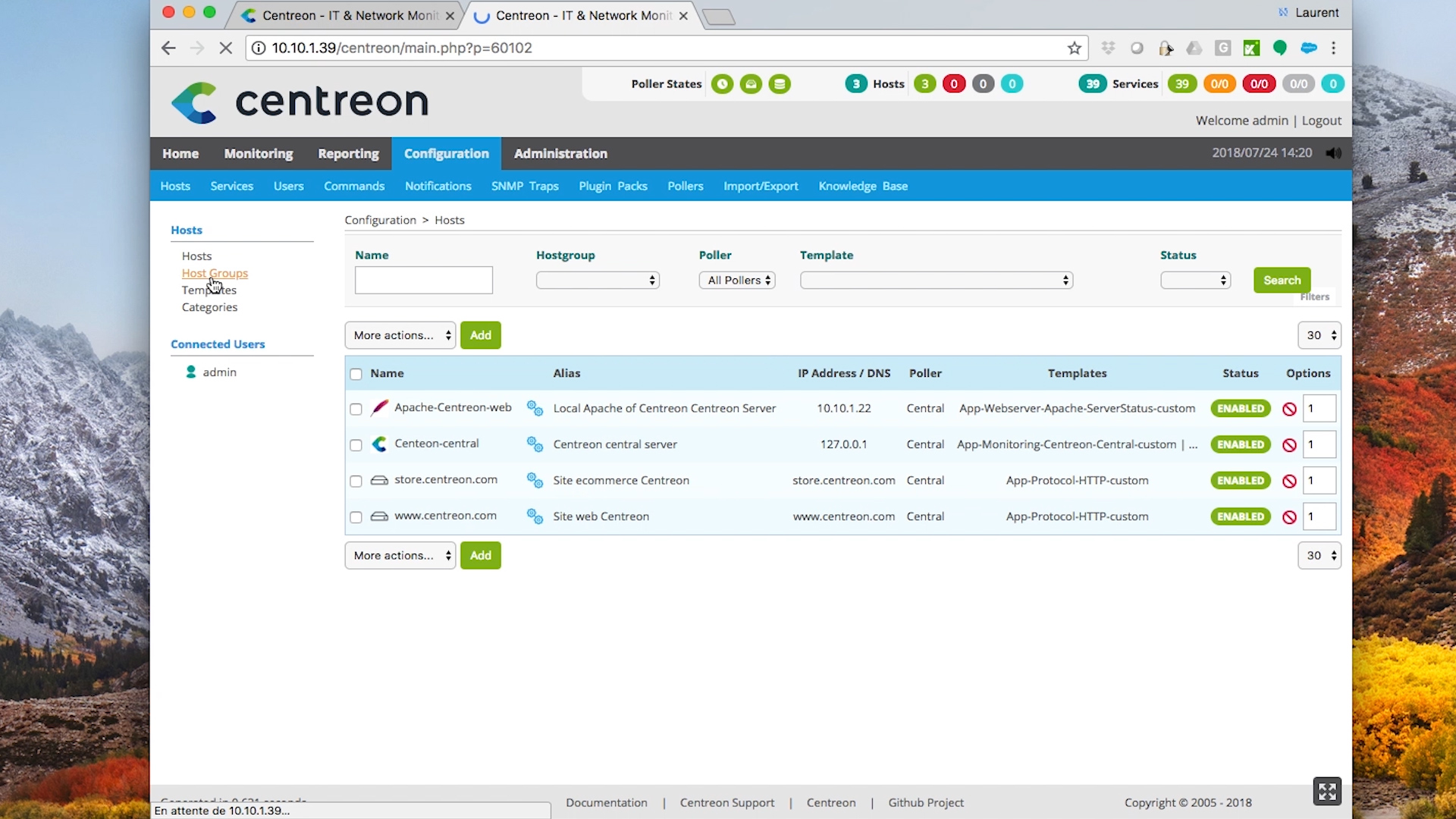 Centreon Tutorial - How to use Centreon API Web interface?