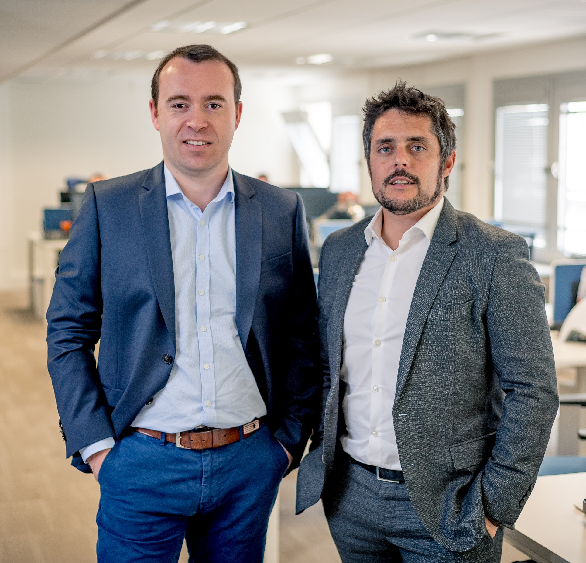 Julien Mathis and Romain le Merlus, Centreon co-founders.