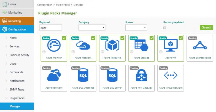 Microsoft Azure Plugin Packs
