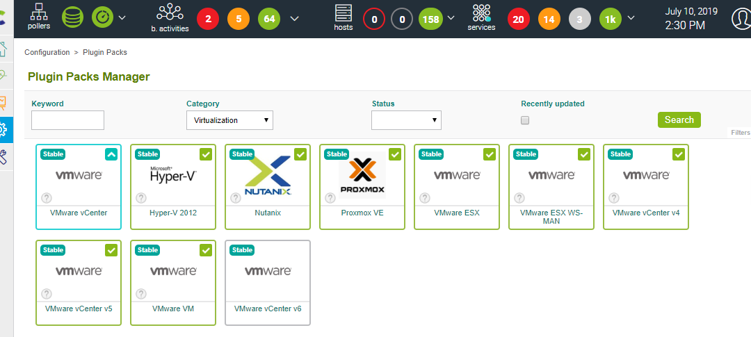 Utiliser Centreon Host Discovery pour superviser une infrastructure VMware