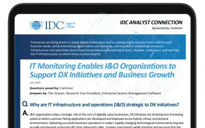 IDC analysis: IT Monitoring, I&Os secret performance booster