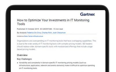 Une étude Gartner : optimiser vos outils de supervision IT pour réduire les coûts
