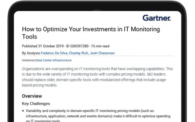 Gartner research: IT Pays To Optimize IT Monitoring Tools
