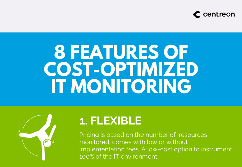 8 features of cost-optimized IT monitoring