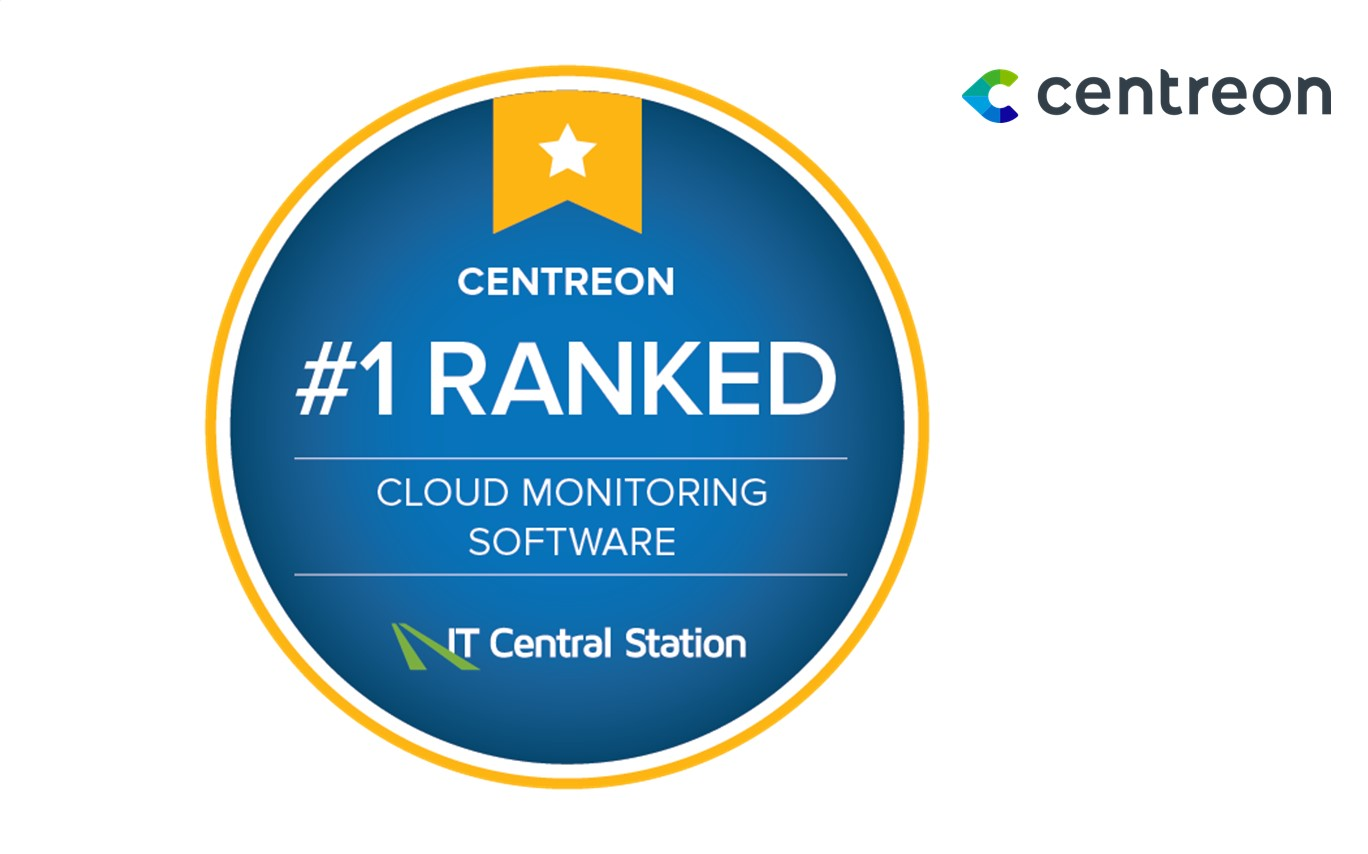 Centreon Ranked #1 in Cloud Monitoring by Independent User Panel