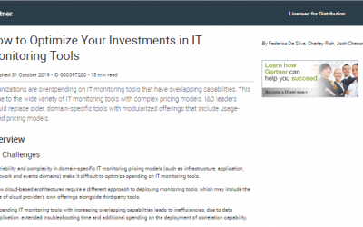 Gartner Report – How to Optimize Your Investments in IT Monitoring Tools