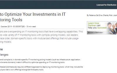 Rapport Gartner – How to Optimize Your Investments in IT Monitoring Tools