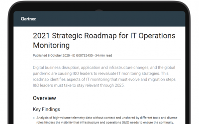 Gartner 2021 Strategic Roadmap for ITOps Monitoring