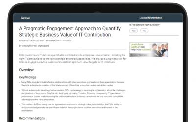 Une approche pragmatique pour évaluer la valeur stratégique que l'IT apporte aux métiers
